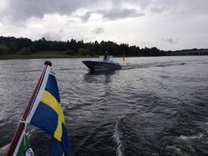 6 modiga båtar trotsade regnet