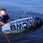 Linus testar wakeboard
