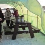 Tomta i tält