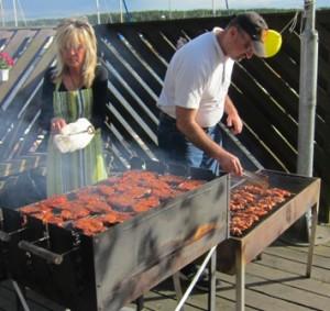 Lisa och Jacob våra mäster grillare!