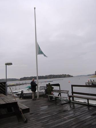 GBS flagga halas för i år.