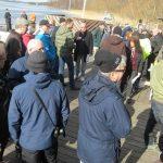 Cirka 80 personer var ner till Hamnen idag.