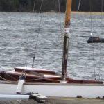 En seglare på plats.