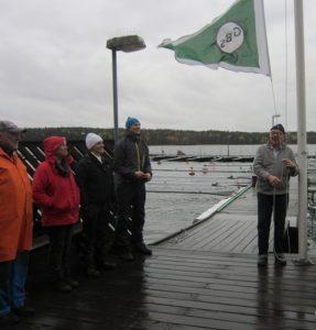 GBS klubbflagga halas för i år.