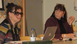 Ordförande Camilla och TF sekreterare Anki
