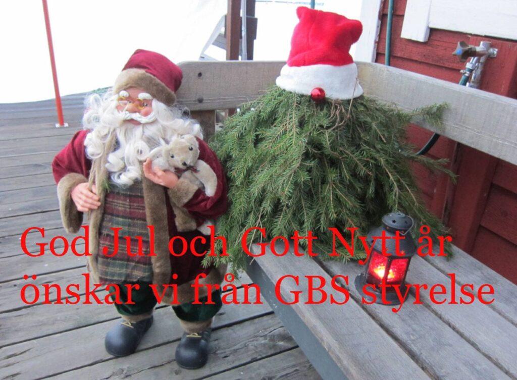 Tomtebild med julhälsning